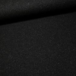 Tissu lainage - noir chiné x 10 cm