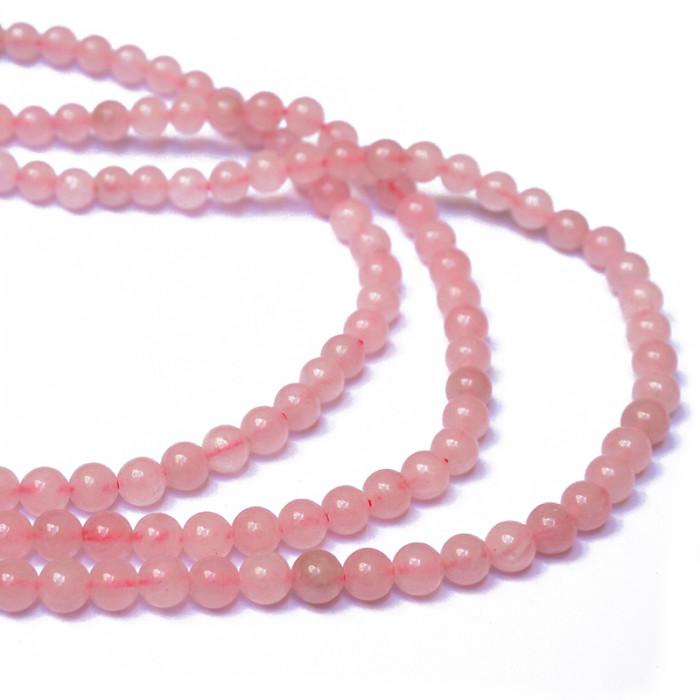 Perle quartz rose du 4 au 12 mm x1