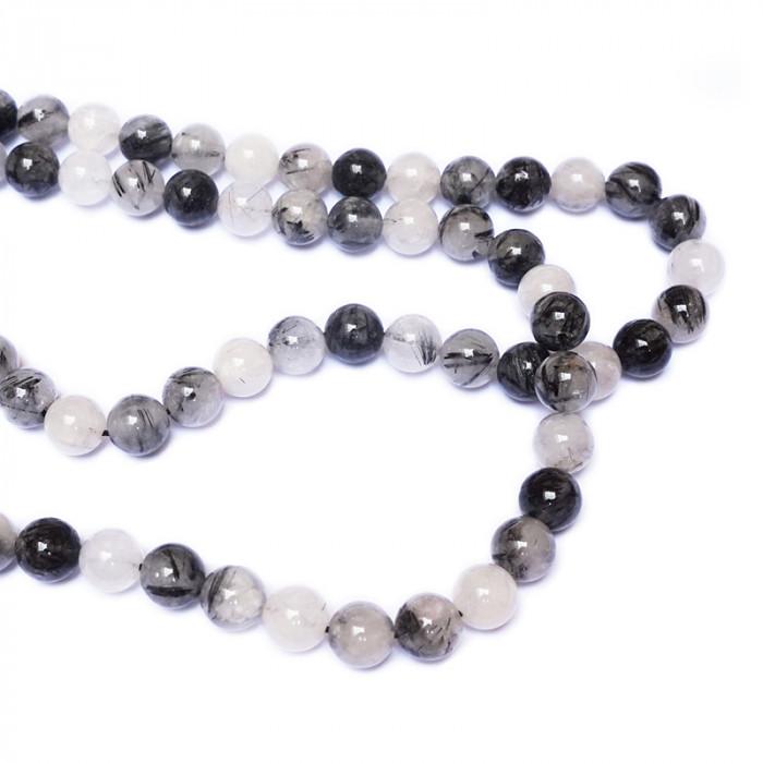 Perle quartz rutile du 4 au 12 mm x1
