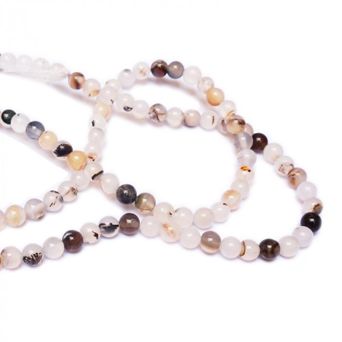 Perle agate naturelle du 4 au 6 mm x1