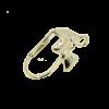 Boucles d'oreilles dormeuse  20mm motif noeud papillon argent
