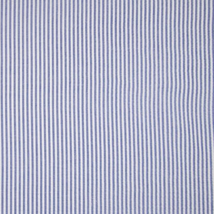 Tissu seersucker rayures - bleu x 10 cm