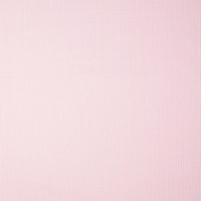 Tissu seersucker fines rayures - rose x 10 cm