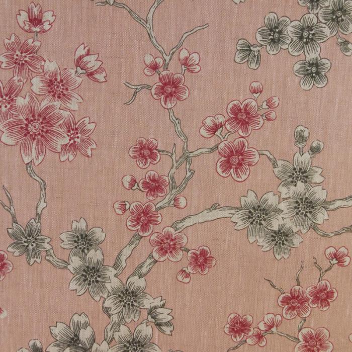 Tissu lin japonais - rose x 10 cm