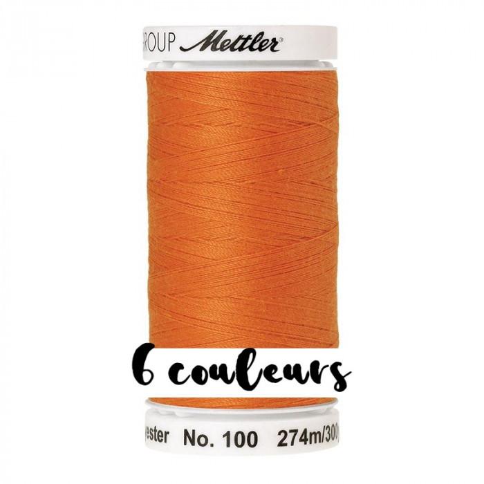 Fil à coudre orange Seralon 274 m Mettler