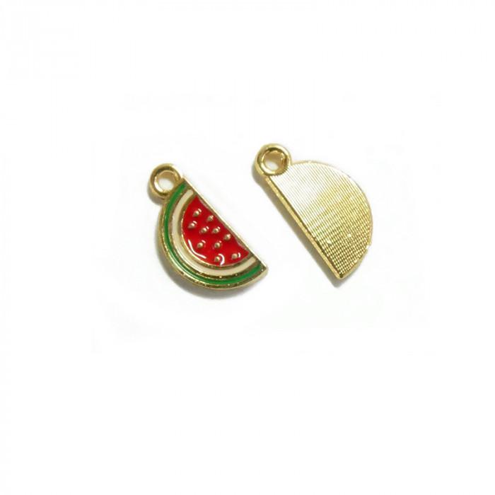 Breloque émaillée pastèque x1