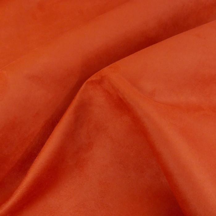 Tissu Suédine - brique x 10 cm
