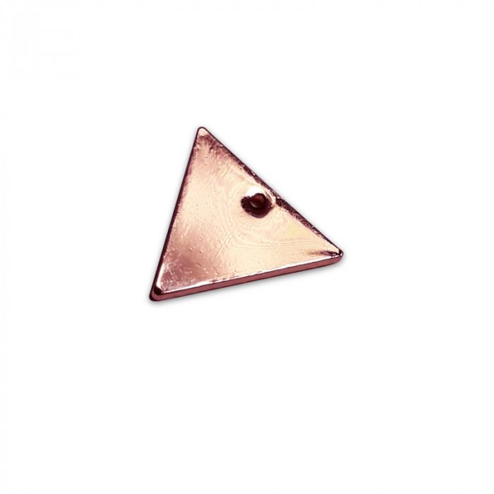 Breloque triangle doré rose x1