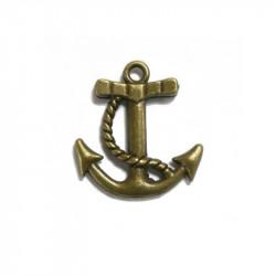 Breloque ancre marine bronze x1