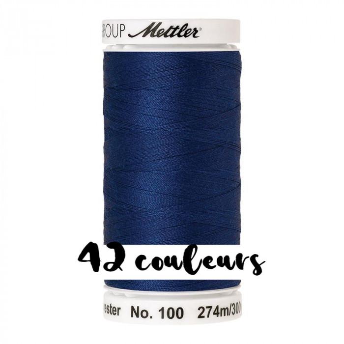 Fil à coudre bleu Seralon 274 m Mettler