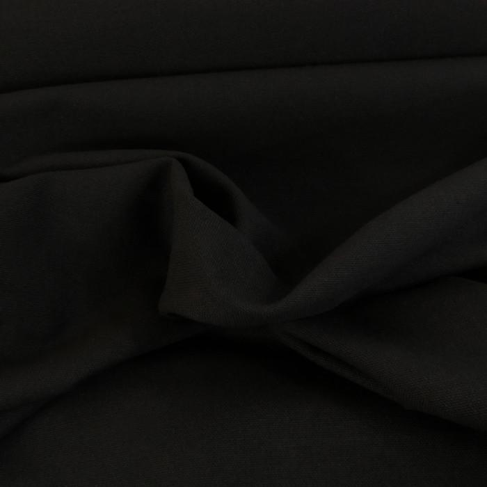 Tissu coton natté grande largeur - noir x 10 cm
