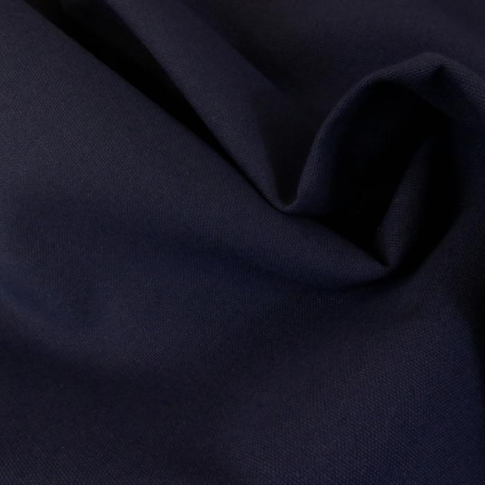 Tissu coton natté grande largeur - Indigo x 10 cm