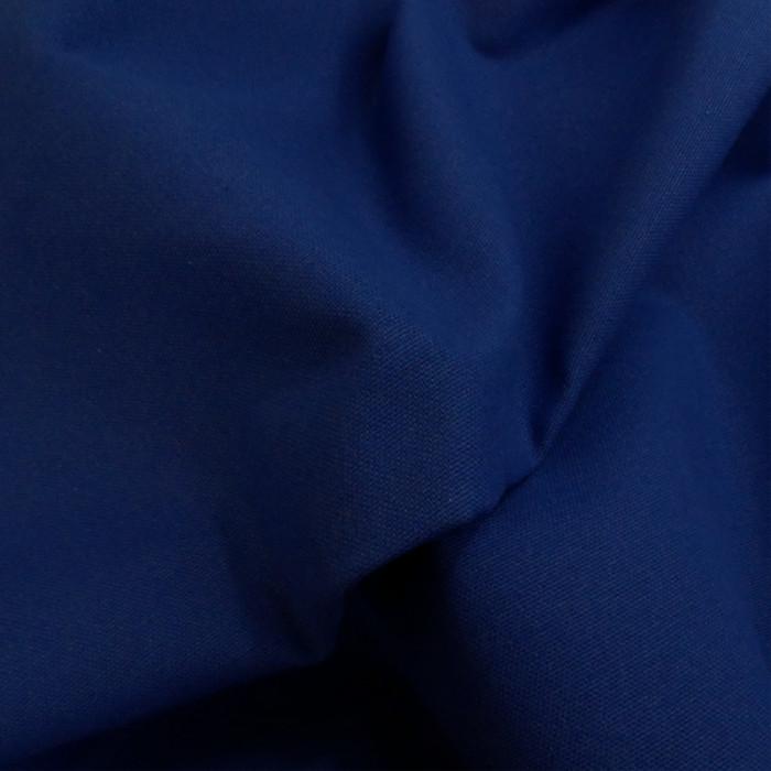Tissu coton natté grande largeur - bleu roi x 10 cm