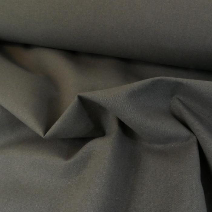 Tissu coton natté grande largeur - anthracite x 10 cm