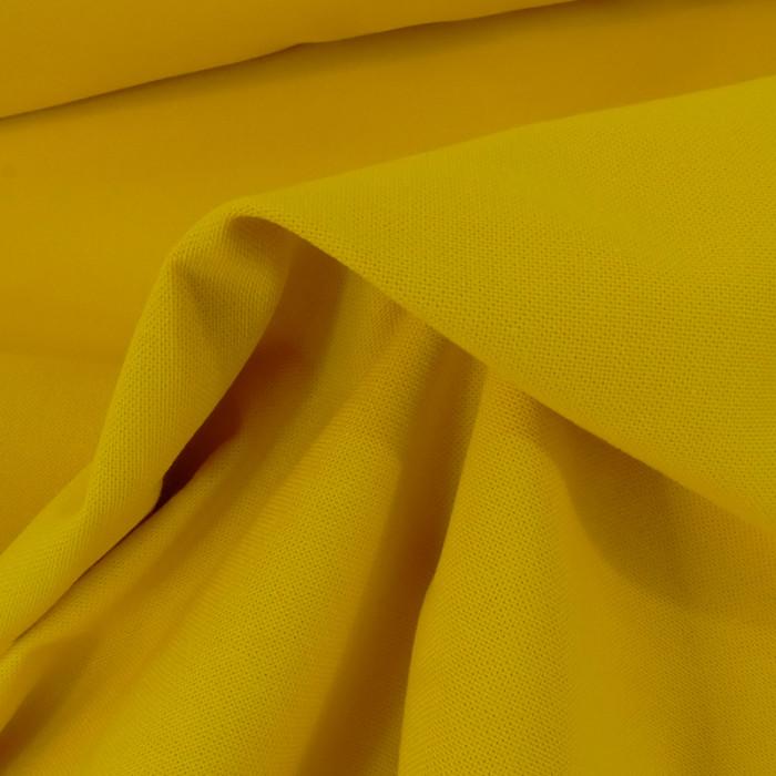 Tissu coton natté grande largeur - curcuma x 10 cm