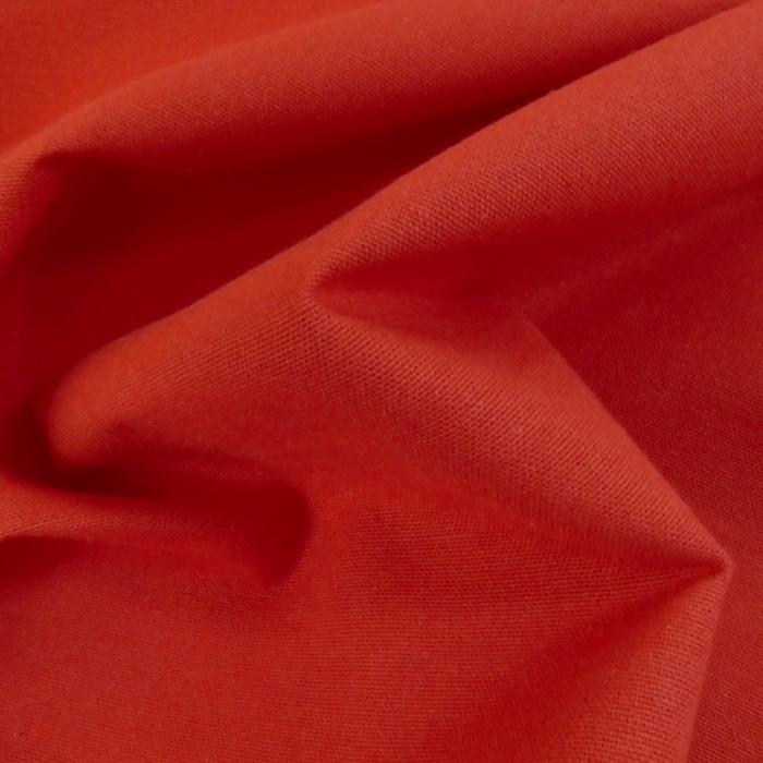 Tissu coton natté grande largeur - tomate x 10 cm