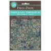 Coupon de tissu thermocollant A4 fleuri - vert