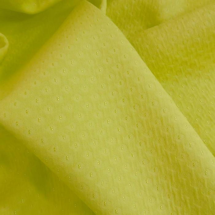 Tissu coton texturé jaune banane x 10 cm
