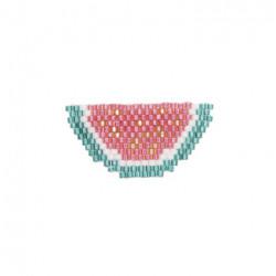 "Kit broche brick stitch ""Pastèque"""