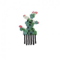 "Kit broche brick stitch ""Cactus"""