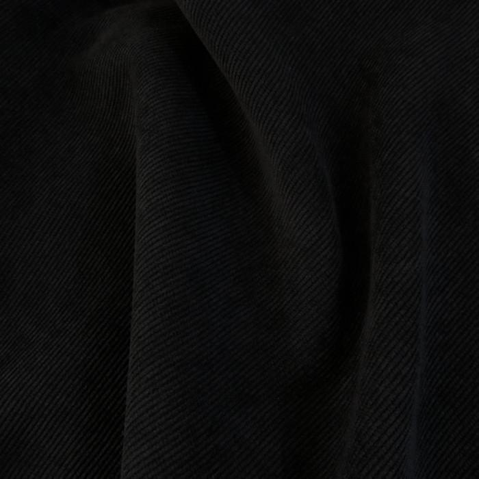 Velours milleraies stretch noir x 10 cm