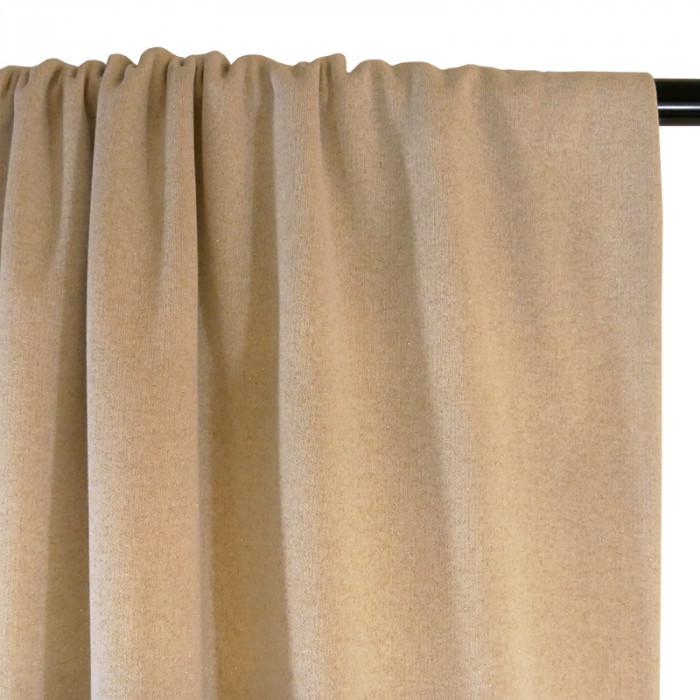 Tissu molleton sweat lurex doré - écru x 10 cm