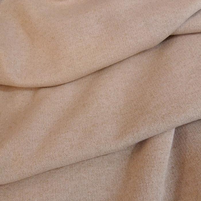 Tissu molleton sweat lurex doré - nude x 10 cm
