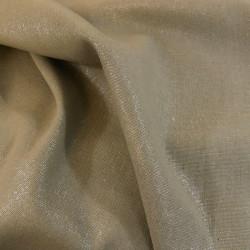 Tissu lin et viscose lamé beige x 10cm
