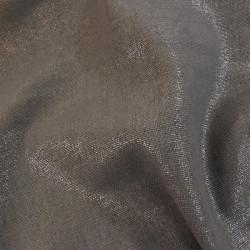 Tissu lin et viscose taupe pailleté argent x 10cm