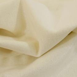 Tissu lin et viscose écru pailleté argent x 10cm
