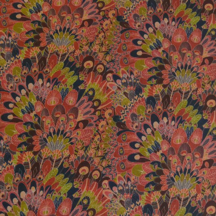 Tissu viscose élasthane liberty Eben - rouge x 10 cm
