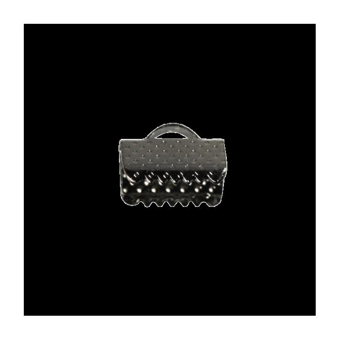 Embouts de serrage ruban argent noirci 10mm