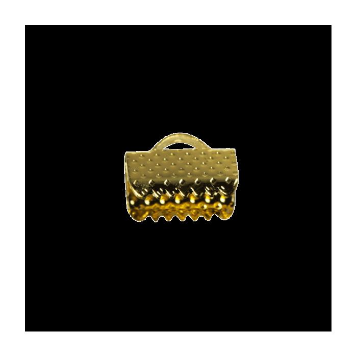 Embouts de serrage ruban doré 10mm x10