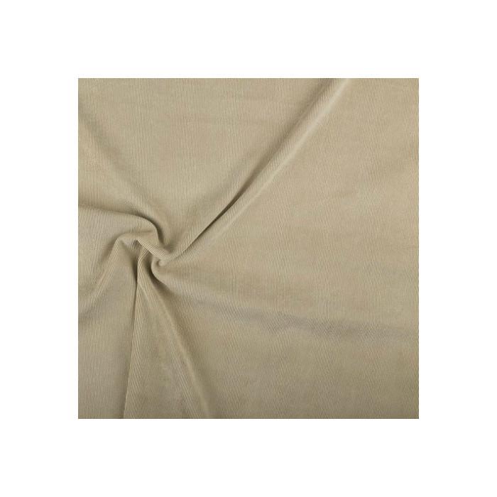 Velours milleraies stretch sable x 10 cm