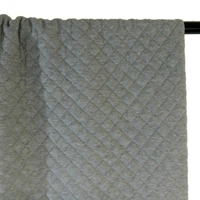 Jersey matelassé coton - gris chiné x 10 cm