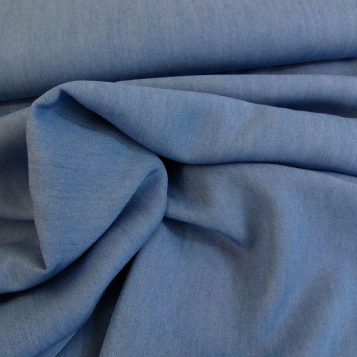 Tissu chambray tencel - bleu clair x 10 cm