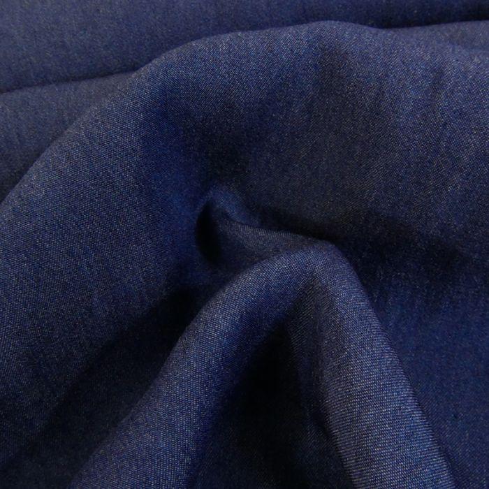 Tissu chambray tencel - bleu marine x 10 cm