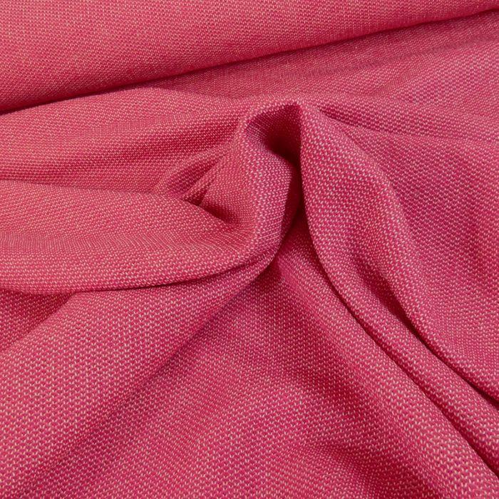 Tissu maille souple - rose x 10 cm