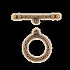 Fermoirs en T rond 31mm cuivre