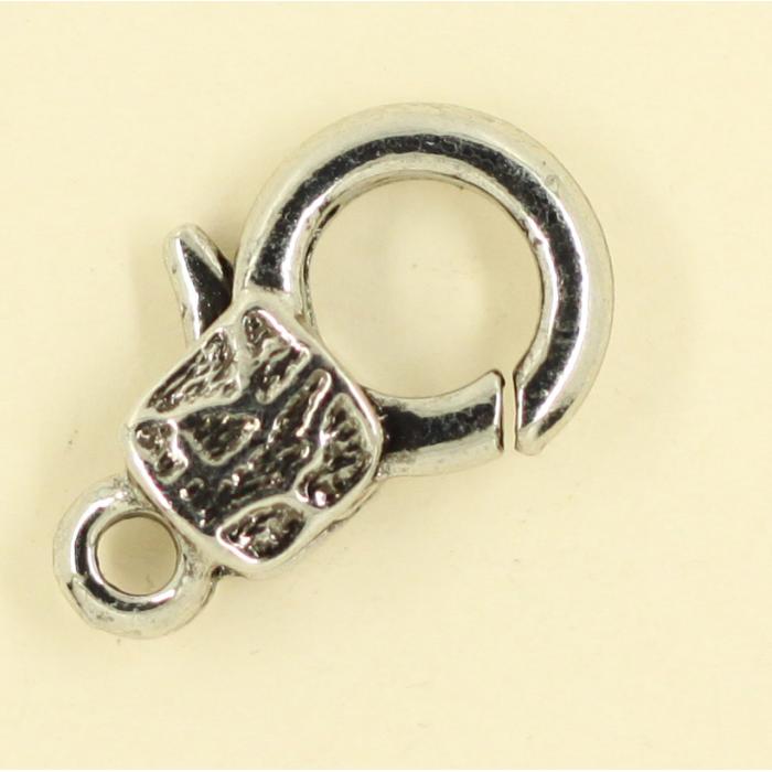 Mousquetons avec motif 23mm argent