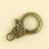 Mousquetons avec motif 23mm bronze