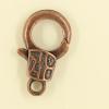 Mousquetons avec motif 23mm cuivre