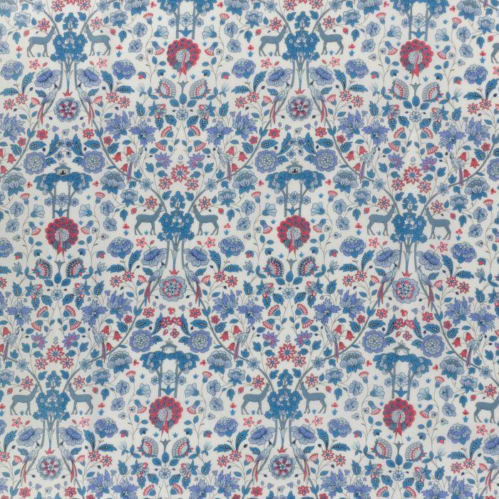 Tissu Liberty of london Palmeira - bleu x 10 cm