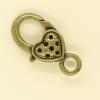 Mousquetons avec motif 27mm bronze