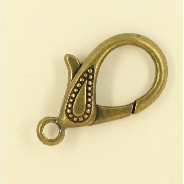 Mousquetons avec motif 30mm bronze