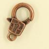 Mousquetons avec motif 17mm cuivre