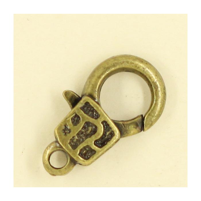 Mousquetons avec motif 17mm bronze