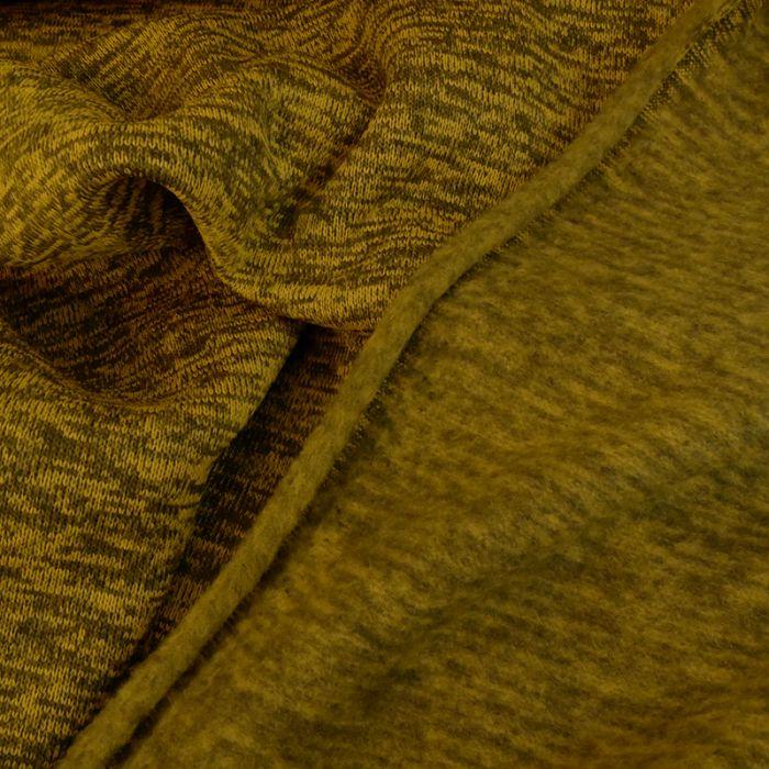 Sweat maille tricot chine - jaune x 10 cm