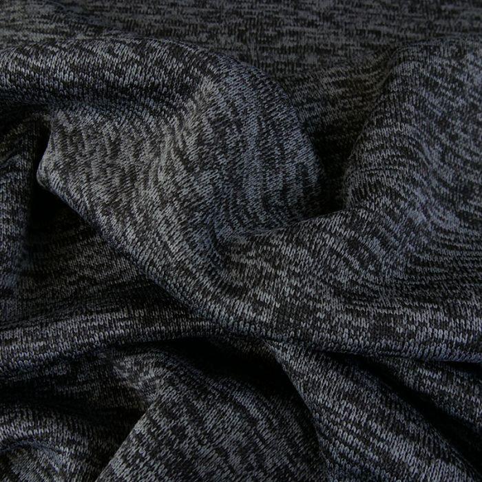 Sweat maille tricot chiné - gris x 10 cm