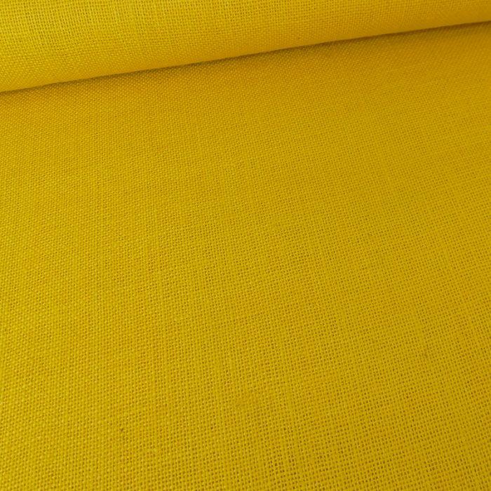 Tissu toile de jute - jaune x 10 cm
